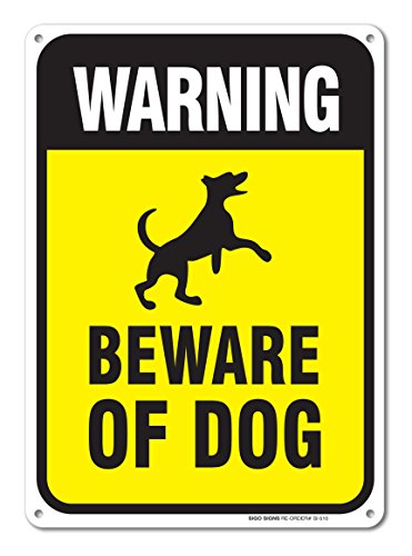 Warning Beware Dog Sign Aluminum