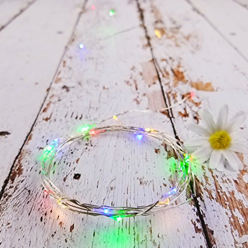 IllumiForce LED Starry String Lights, Battery Operated Fairy Lights, 6.5ft 20LEDs, Decorations for Bedroom Patio Garden Birthday Party Wedding Christmas DIY Crafing Home Decor, Multi-color 6 Sets