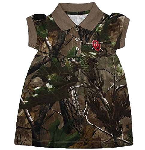 Oklahoma Sooners NCAA Newborn Baby Two Piece Camouflage Dress W/ Bloomer (12 Months ) (Oklahoma Sooners Infant Two Piece)