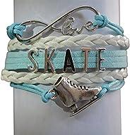 Figure Skating Jewelry- Girls Figure Skating Bracelet - Perfect Figure Skating Gifts