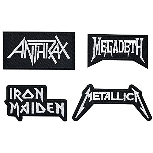 Band Assorted (Iron on Patches, Rock Music Band Patches Assorted Size Iron Embroidery Applique Decoration DIY Patches for Clothing Jeans etc)