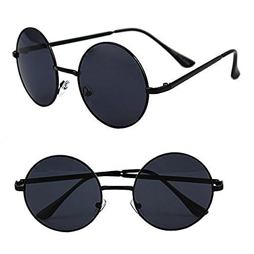 44f9247947f POP Fashionwear Unisex P2012 John Lennon Hippie Retro Sunglasses Black Black