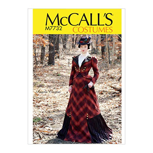 (McCall's Patterns M7732AAX Victorian Dress Costume Sewing Pattern for Women by Angela Clayton, Sizes 4-10)