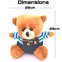 Teddy Soft Toy for car Hanging high Quality Velvet Fabric Multi Color (20cm)