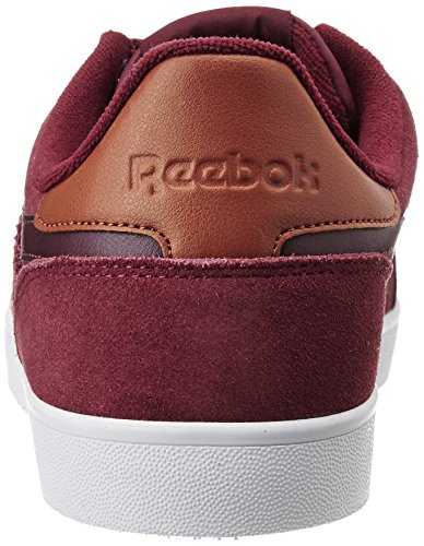Reebok Classics MenS Royal Alperez Merlot, Brown, White and Gold Leather Sneakers - 8 UK/India (42 EU)(9 US)