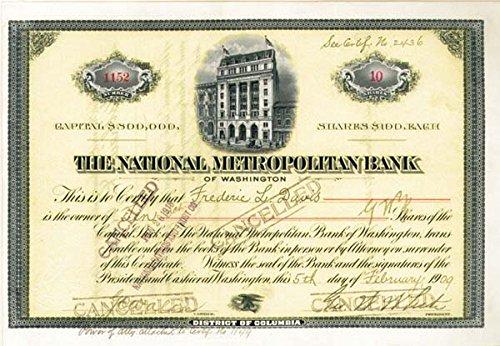 National Metropolitan Bank Of Washington
