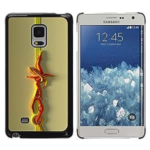 Shell-Star Arte & diseño plástico duro Fundas Cover Cubre Hard Case Cover para Samsung Galaxy Mega 5.8 / i9150 / i9152 ( Abstract Lines )