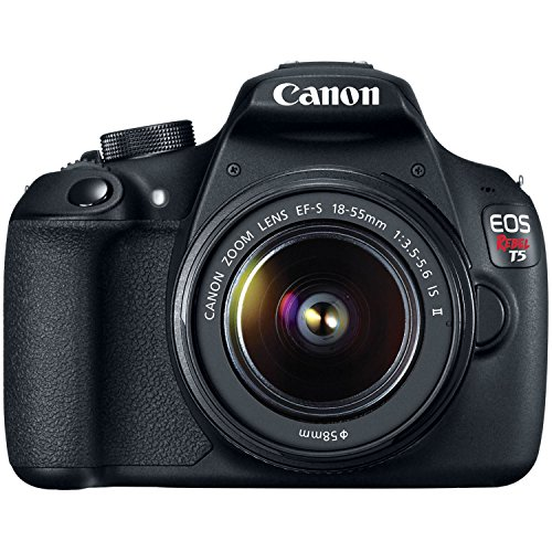 Canon EOS Rebel T5 Digital SLR Camera Kit with EF-S 18-55mm IS II (Color Digital Tft Lcd)