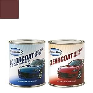 ExpressPaint Pint Isuzu Truck Automotive Touch-up Paint - Crimson Maple Metallic Clearcoat 1112/P1 - Color + Clearcoat Package
