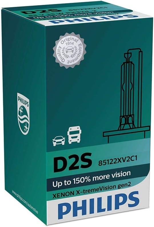 Philips Xtreme Vision D2S Xenon 4800K Headlight Performance Car Bulbs Single
