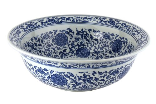 Fontaine Chinese Dynasty II Porcelain Vessel Bathroom Sink, FSA-PVS-PT-008