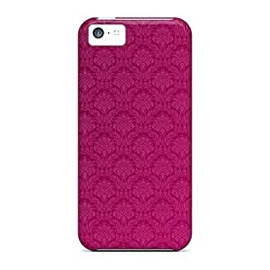 Excellent Iphone 5c Case Tpu Cover Back Skin Protector Hot Pink Damask
