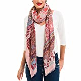 Scarf for Women Lightweight Paisley Fashion Fall Winter Scarves Shawl Wraps (SS44)
