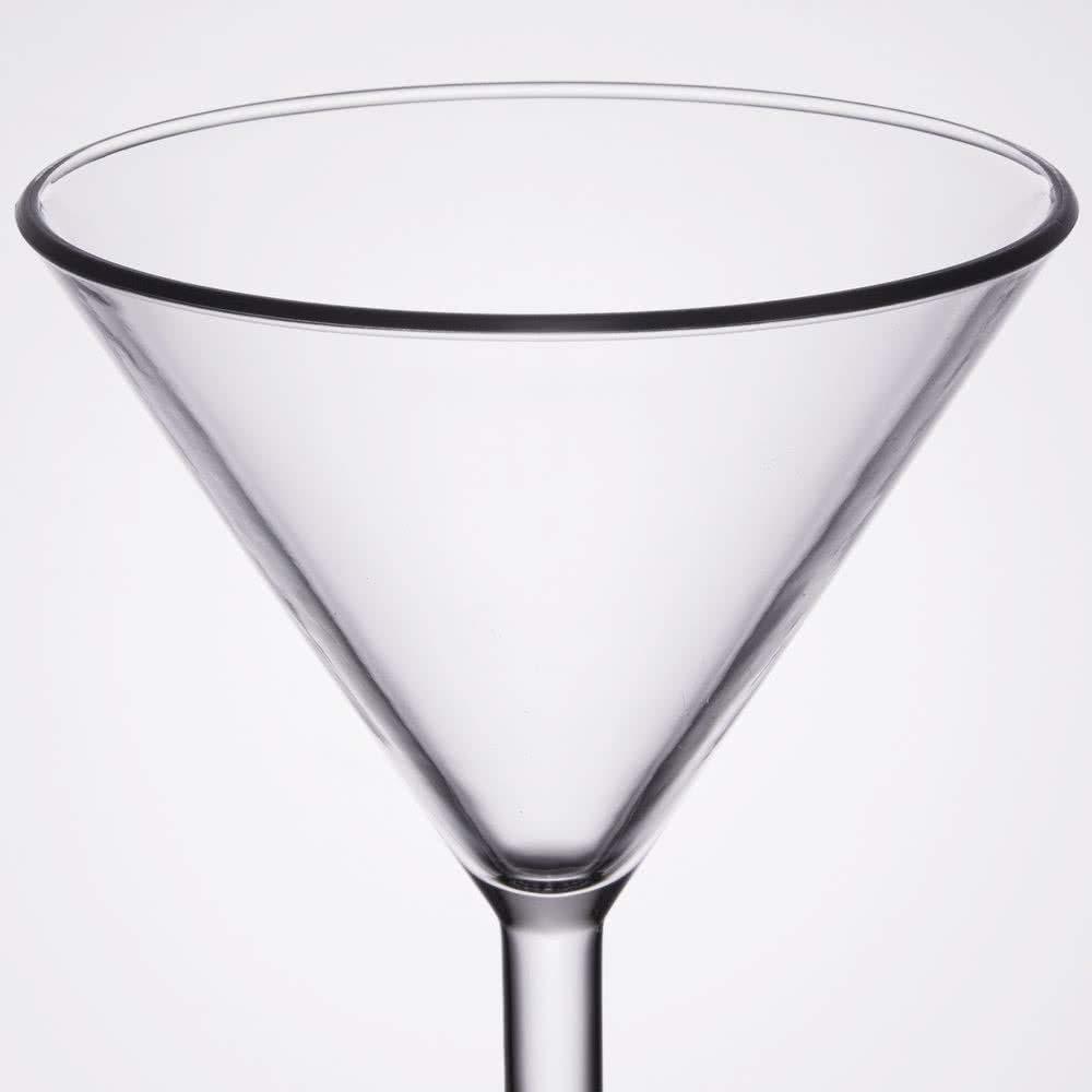 10 oz. Plastic Martini Glasses, Reusable Dishwasher Safe Plastic for Indoor / Outdoor Use, BPA Free San, by GET SW-1407-1-SAN-CL-EC (Pack of 4)