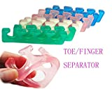 Hosaire 1 Pair Toe Separators, Soft Two Silicone