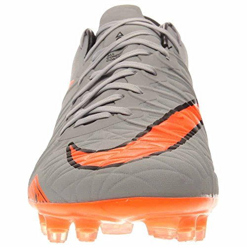 Nike Herren Hypervenom Phinish Fg Fußballschuhe, UK WOLF GREY/TOTAL ORANGE-BLK-BLK