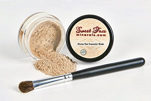 SET Full Size Mineral Makeup Powder Kit Sheer Bare Skin SPF 20 (Medium Concealer) ()