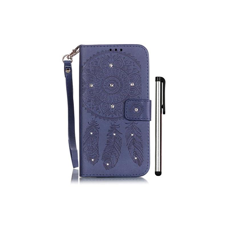 Galaxy S5 Folio Case Wallet Dark Blue Le