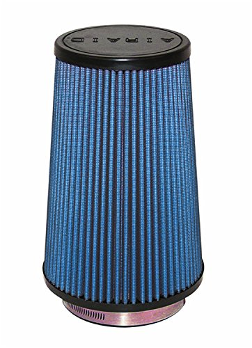 Airaid 703-471 Universal Clamp-On Air Filter: Round Tapered; 4 in (102 mm) Flange ID; 9 in (229 mm) Height; 6 in (152 mm) Base; 4.625 in (117 mm) Top