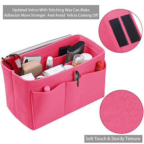 Purse Organizer Insert, Felt(3MM) Fabric Bag Organizer for LV Neverfull, LV Speedy, Purse Handbag Tote Bag, 3 Sizes, 8 Colors
