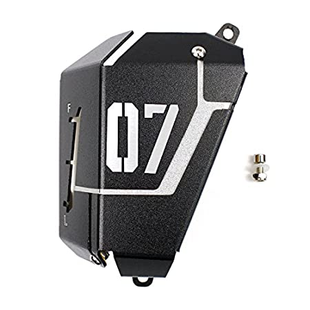 Silver FATExpress Motorcycle Radiator Water Coolant Reservoir Tank Guard Cover for 2013-2016 Yamaha FZ-07 MT-07 FZ07 MT07 FZ MT 07 2014 2015 13-16