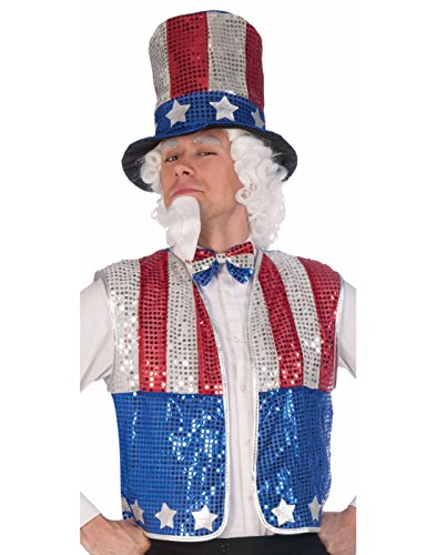 Sequin Uncle Sam Costumes (Sequin Uncle Sam Kit Adult Accessory)