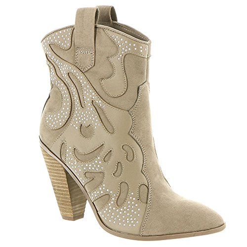 Carlos Par Carlos Santana Womens Sterling Botte De Mode Foyer Taupe