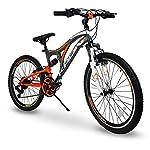 50-Bici-Bicicletta-MTB-Ares-26-Pollici-BIAMMORTIZZATA-14-Velocita-Shimano-Mountain-Bike-REVO