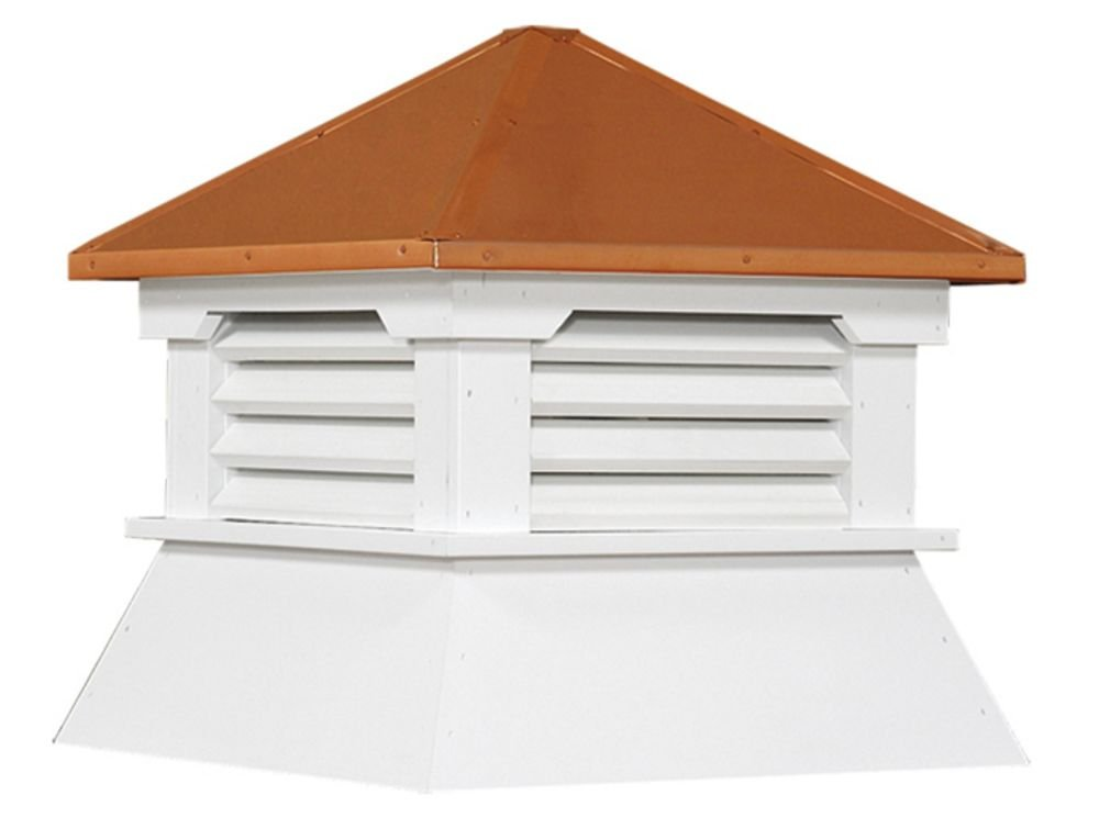 30'' Vinyl Shed Cupola with Copper Roof by Dress The Yard