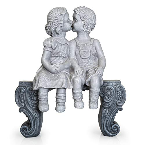Boy & Girl Kissing Garden Statue (Large) Decorative for sale  Delivered anywhere in USA