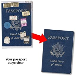 Transparent Plastic Passport Cover - 6 Pack