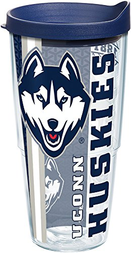 (Tervis 1226831 UConn Huskies College Pride Tumbler with Wrap and Navy Lid 24oz,)