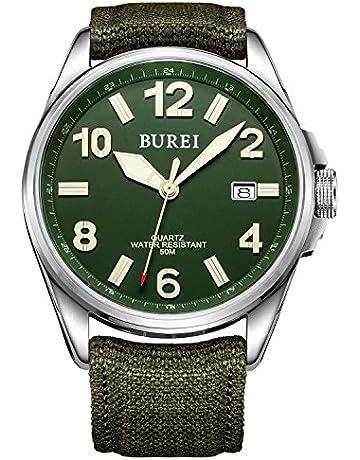 64d625ea5 BUREI Men Women Watches Automatic Watch Classic Quartz Wrist Watch Fashion  Analog Dial Round Case Stainless