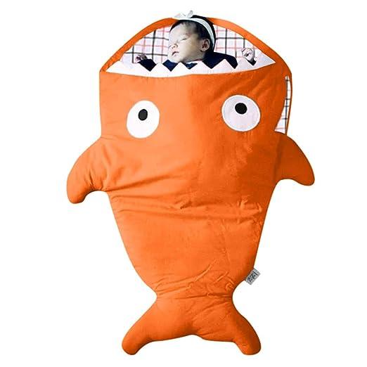 Saco de dormir de tiburón de dibujos animados, saco de dormir de mamá para bebés