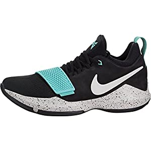 Nike Men's PG 1 Black/Aqua Basketball Shoes (10.5)