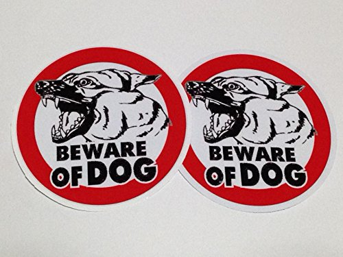 Heartgard Dog Medication (Beware of Dog Sign Sticker x 2 pack size 4 inch for Car Window Bumper Laptop Security Warning Alert Sticker Decals)