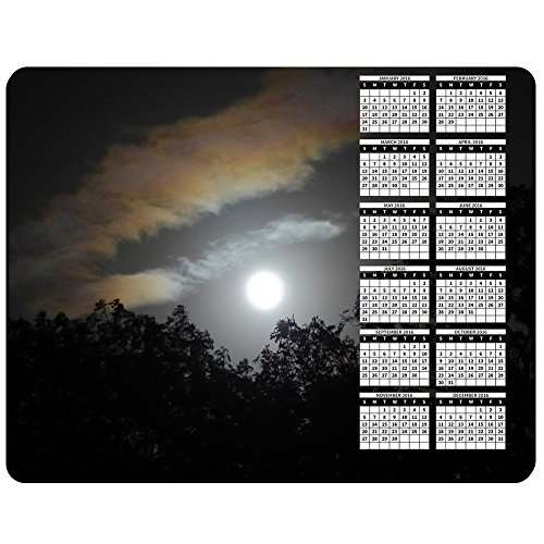 Full Moon Through The Clouds   2016 Calendar Premium Mouse Mat  5Mm Thick