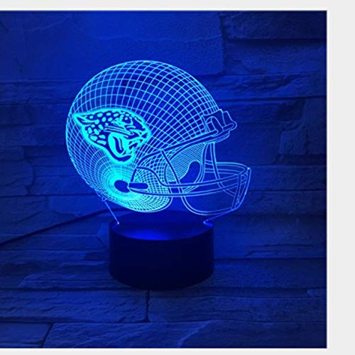 kkkmb 3D Night Light Football Team 3D Night Lamp Multicolored Bluetooth Audio Touch Visual Lamp Bedroom Furniture Decoration