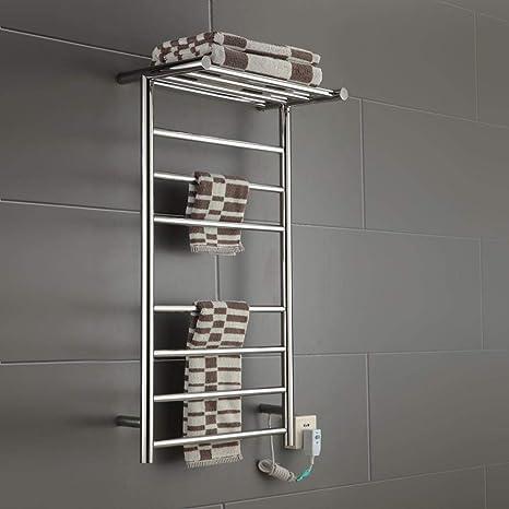 JackeyLove Baño eléctrico calefacción radiador toallero cálido Rack Rail Acero Inoxidable 900 * 520 * 300MM