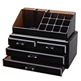 Vencer Jewelry and Makeup Storage Display Boxes (1 Top 4 Drawers) Cosmetic Organizer (Tawny),VMO-002