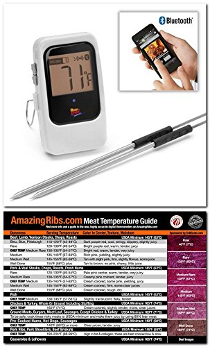 Maverick Et-735 White Bluetooth 4.0 Wireless Digital Cooking Thermometer