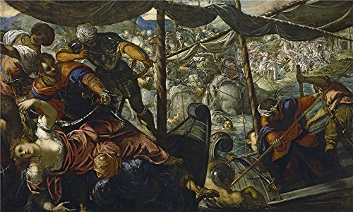 Oil Painting 'Tintoretto Jacopo Robusti The Abduction Of Helen Ca. 1578', 16 x 27 inch / 41 x 68 cm , on High Definition HD canvas prints is for Gifts - Short Town Centre Pump