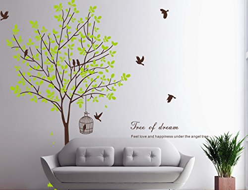 wall decal brown tree - 9