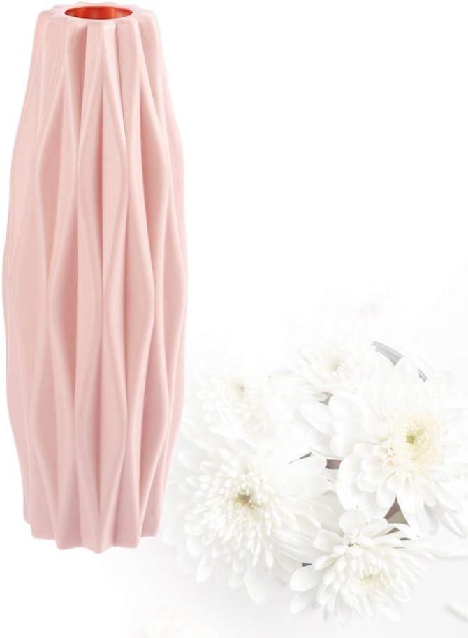 Healifty Vase Nordique Minimaliste Moderne Rose 5.5 * 5.5cm D/écoration de Bureau Rose PP