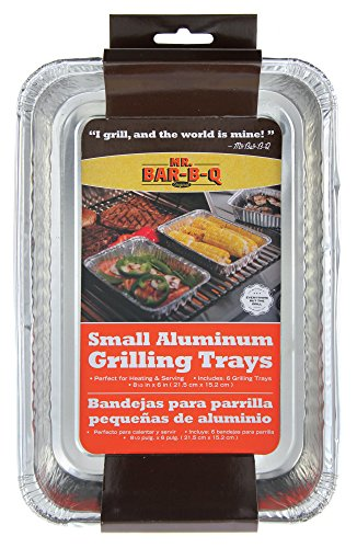 Mr Bar B Q 06692X Small Aluminum Grilling Pans (Outdoor Grill Pans Small compare prices)