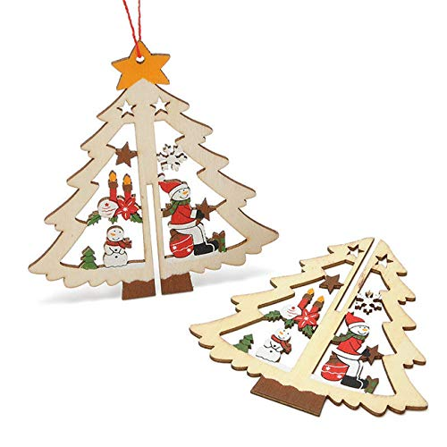 Pendant Drop Ornaments - 3d Pendants Tree Star Bell Hanging Decor Christmas Ornaments Xmas Year 39 S Decorations - Ornaments German Decor Door Pendant Tree Christmas Candy Christmas Ornament