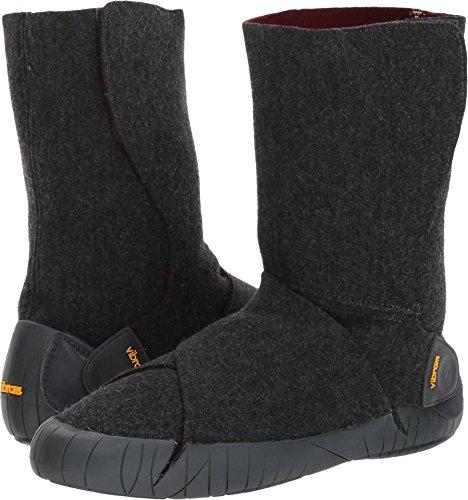 Vibram Furoshiki Mid Boot Russian Felt Grey/Red Wine Sneaker, EU:40-41/UK Man:6-7.5/UK Woman:7.5-8.5/cm:25-26/US Man:7-8.5/US Woman:8.5-9.5 (Boots Felt)