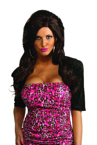 Jersey Shore Adult Snooki Wig, Black, One Size