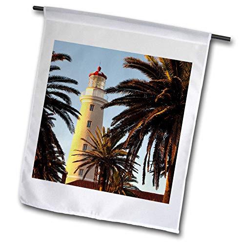 (3dRose Danita Delimont - Uruguay - East Point Lighthouse, Punta Del Este, Uruguay, South America - 12 x 18 inch Garden Flag (fl_314401_1))