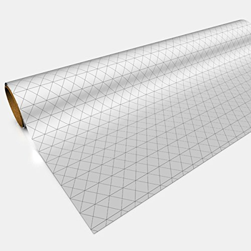 Gaming Paper Roll - Isometric White RPG Mat sized for miniatures - 30